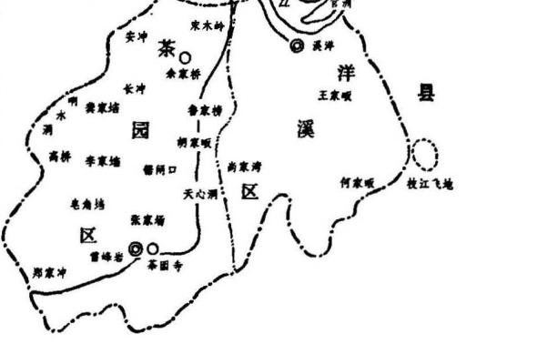 1949年地域图显示茶园寺