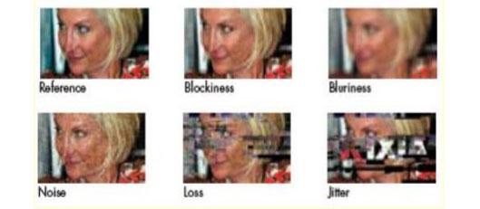 视频图像损伤示例